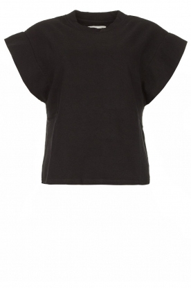 ba&sh | Top with padded shoulders Elix | black