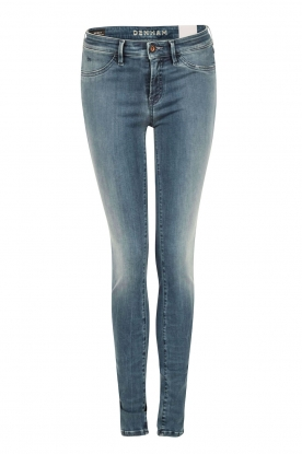 Denham | High waisted skinny jeans Spray YDF lengtemaat 32 | blauw