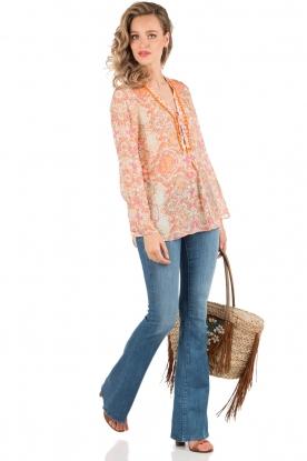 Denham | High waisted flared jeans Farrah YSNL lengtemaat 34 | blauw