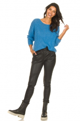 Look Knitted sweater with lurex Sky