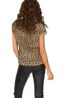 Set | T-shirt met panterprint Star | dierenprint