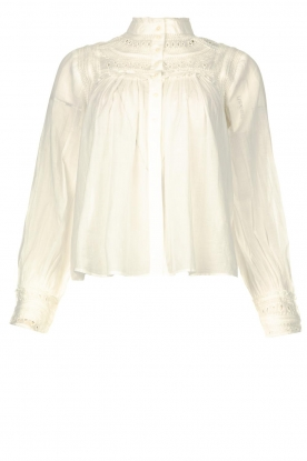 ba&sh |  Broderie blouse Leaf | white