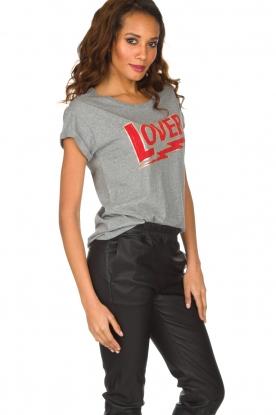 Set | 100% katoenen T-shirt Lover | grijs