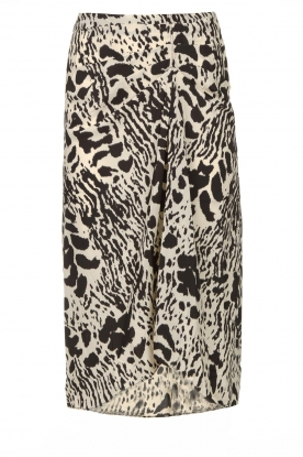 ba&sh | Print skirt Opera | black