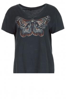 Set | T-shirt met vlinder Raw| donkergrijs