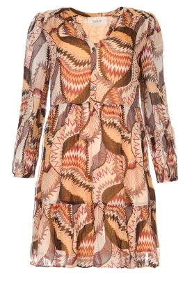 ba&sh | Printed dress Twist | beige