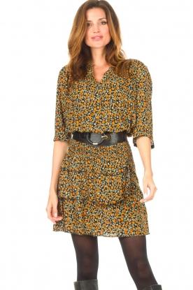 Les Favorites |  Printed dress Flori | black
