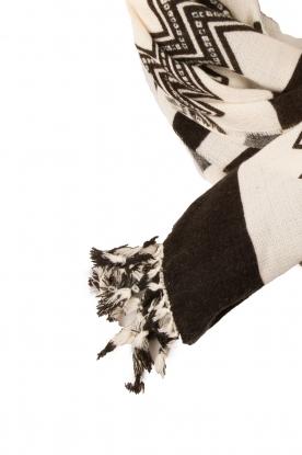 Sjaal Harriet | zwartwit