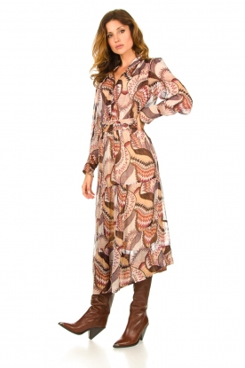 ba&sh |  Printed midi dress Toni | beige