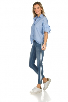 Kocca |  Skinny jeans with side stripes Bagkin | blue