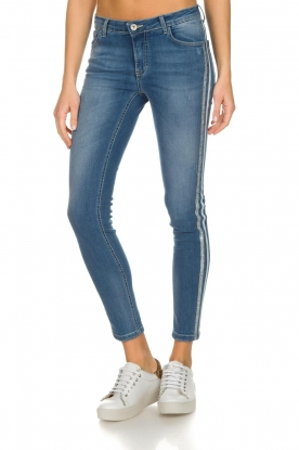 Kocca | Skinny jeans met zijstrepen Bagkin | blauw