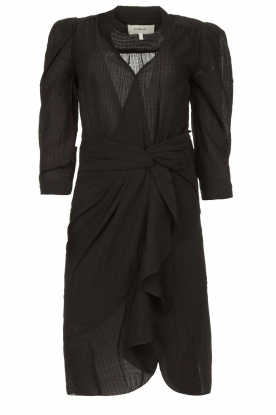 ba&sh | Draped wrap dress Isee | black