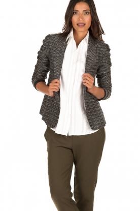 Style Butler | Bouclé blazer Laura | zwart wit