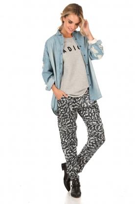 Style Butler | Zijden broek Felicie | print