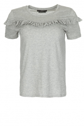 Set |  Top with ruffles Anelie  | light grey