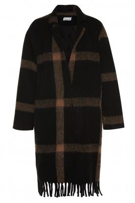 Les Favorites |  Checkered coat Aukje | black