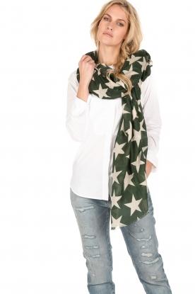 Zijden sjaal Supersize nova | Groen