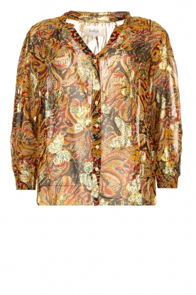 ba&sh | Floral blouse Quincy | camel