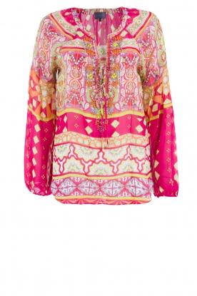 Hale Bob | Zijden blouse Brandie | roze