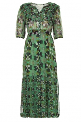 ba&sh | Floral midi dress Hooper | green