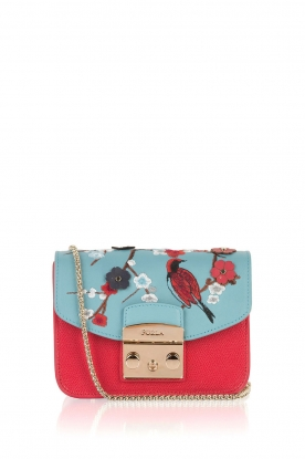 Furla |  Leather shoulder bag Metropolis Mini changeable flap | red
