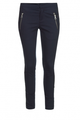 Set |  Luxurious tight fitted pants Meina | dark blue