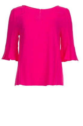 Kocca |  Top with trumpet sleeves Orange | pink