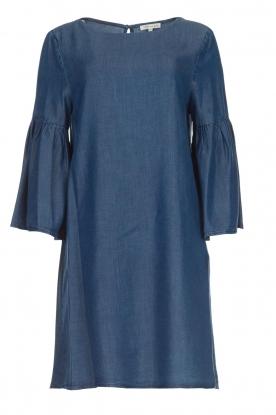 Kocca Denim jurk met trompetmouwen Roman  blauw