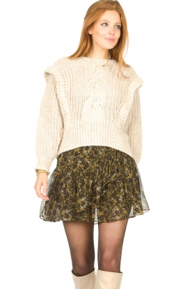 Aaiko |  Knitted sweater Bizou | beige