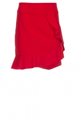Kocca |  Skirt with ruffles Katia | red