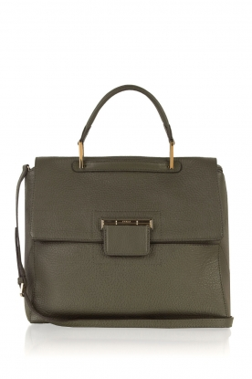 Furla |  Leather shoulder bag Artesia M | army green