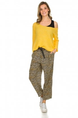 Kocca |  Wide leg leopard print trousers Boise | animal print