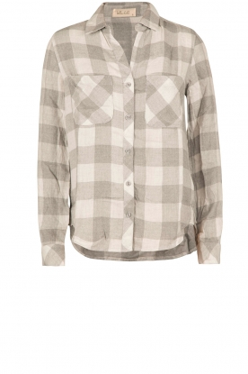 Bella Dahl |  Flannel blouse Check | grey