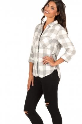Bella Dahl | Flanellen blouse Check | grijs