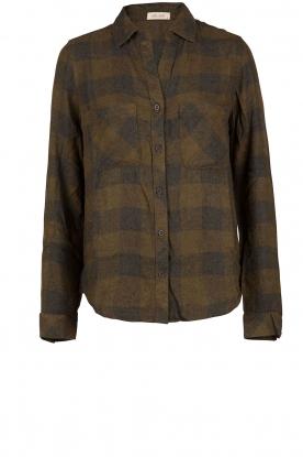 Flanellen blouse Check | groen