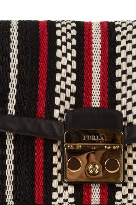 Furla | Geborduurde schoudertas Metropolis | rood