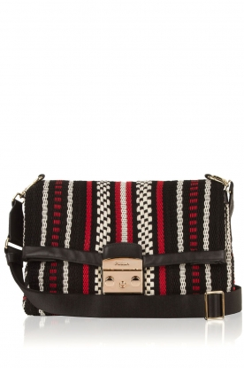 Furla |  Embroidered shoulder bag Metropolis | red