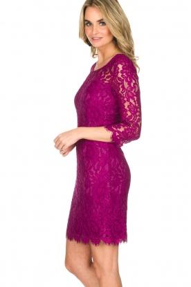 Set | Kanten jurk Lene | fuchsia