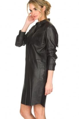 Set | Leren jurk Emma | zwart