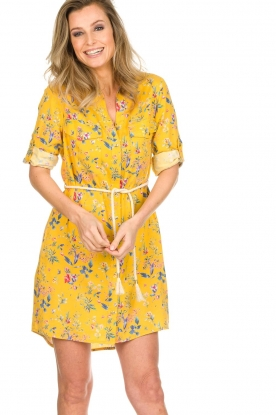 Kocca |  Floral dress Illiade | yellow