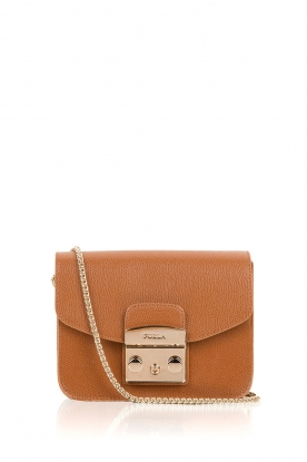 Furla |  Leather schoulder bag Metropolis Mini | camel