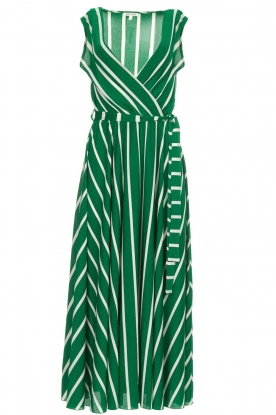 Kocca |  Striped maxi dress with glitters Melia | green