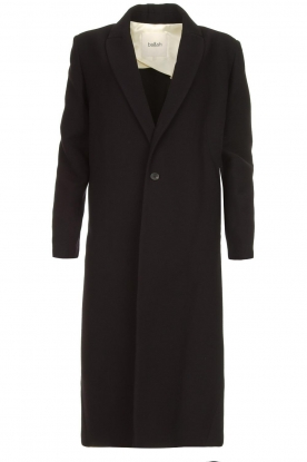 ba&sh | Long luxury coat Pati | black