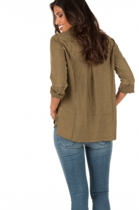 Bella Dahl | Blouse Eve | legergroen