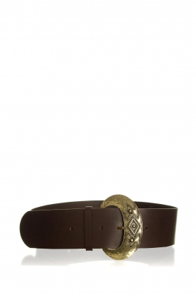 ba&sh    Leather belt Benita   brown