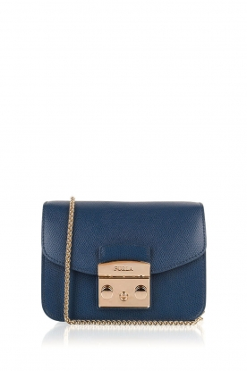 Furla |  Leather shoulder bag Metropolis Mini | dark blue