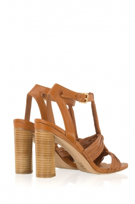 What For | Leren sandaal Heather | camel
