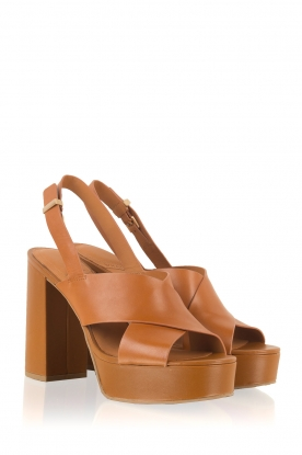 What For | Leren sandalen Felix | camel