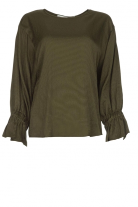 Essentiel Antwerp |  Top with playful sleeves Soul | groen