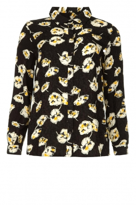 ba&sh | Floral blouse Una | black